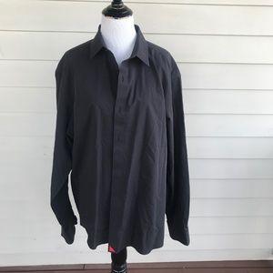 Untuckit Black Long Sleeve Dress Shirt Sz XL
